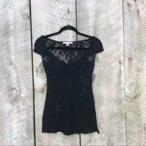 Victoria's Secret | black sheer lace top